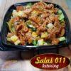 Salata obrok sa dimljenim lososom. Online poručivanje, dostava hrane, ketering, Novi Beograd - Zemun. 069 63 61 69, 065 4444 381