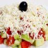 Šopska salata, paradajz, krastavac, feta sir. Dostava hrane i ketring na Novom Beogradu.