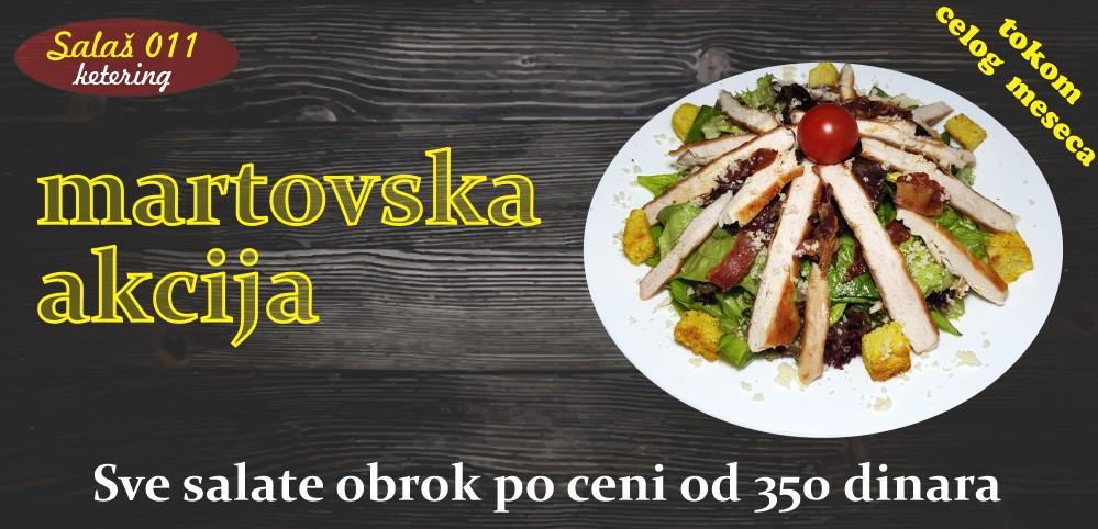 Akcije u Salašu za dostavu hrane, Novi Beograd i Zemun. Ketering za svaku priliku.